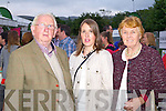 Pictured before Sharon Shannon at the Dome, Tralee for the Rose of Tralee Festival on Thursday were, from left: Jim, Helena and Mary Wrenn (The Spa).