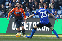 (L-R) Matt Grimes of Swansea City and Sam Hutchinson of Sheffield Wednesday in action during the Sky Bet Championship match between Sheffield Wednesday and Swansea City at Hillsborough Stadium, Sheffield, England, UK. Saturday 23 February 2019