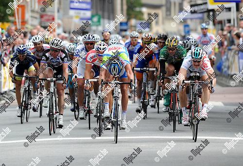 2011-09-07 / Wielrennen / seizoen 2011 / Memorial Rik Van Steenbergen Aarselaar / Kenny van Hummel (midden) wint nipt voor Andre Greipel (r)..Foto: mpics