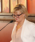 Martha Plimpton during the 2018 Outer Critics Circle Theatre Awards presentation at Sardi's on May 24, 2018 in New York City.