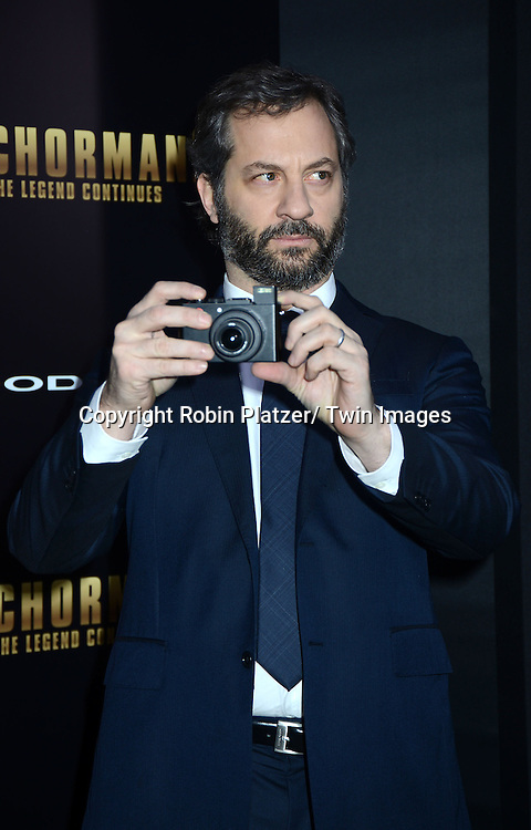 "producer Judd Apatow attends the U.S. Premiere of Paramount Pictures'   ""Anchorman 2: The Legend Continues""  on  December 15, 2013 at the Beacon Theatre in New York City."