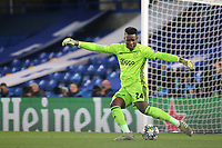 Ajax goalkeeper, Andre Onana in action during Chelsea vs AFC Ajax, UEFA Champions League Football at Stamford Bridge on 5th November 2019