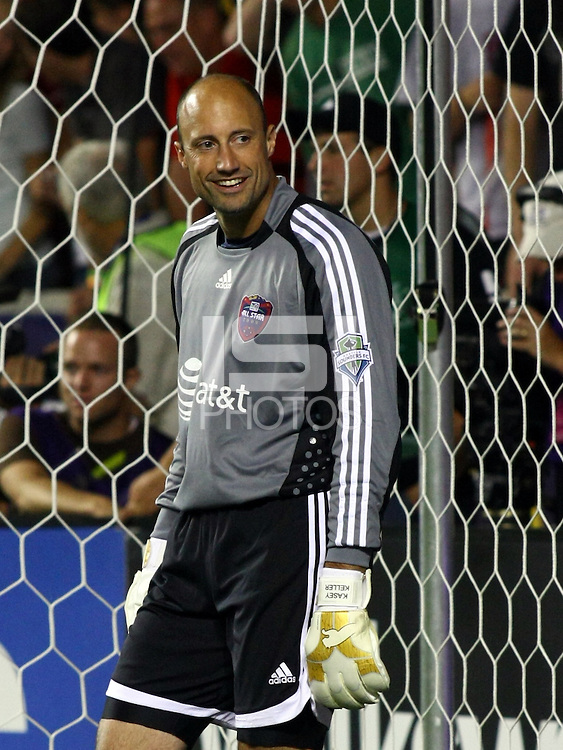 Kasey Keller in the MLS All Stars v Everton 4-3 Everton win at Rio Tinto Stadium in Sandy, Utah on July 29, 2009