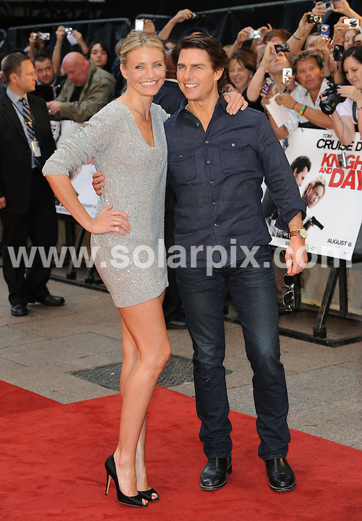 **ALL ROUND PICTURES FROM SOLARPIX.COM**.**WORLDWIDE SYNDICATION RIGHTS**.UK Premiere of Knight and Day.  Held at the Odeon, Leicester Square, London.This pic:     Tom Cruise & Cameron Diaz.JOB REF:    11740   SSD     DATE:     22.07.10.**MUST CREDIT SOLARPIX.COM OR DOUBLE FEE WILL BE CHARGED**.**MUST NOTIFY SOLARPIX OF ONLINE USAGE**.**CALL US ON: +34 952 811 768 or LOW RATE FROM UK 0844 617 7637**