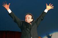 ROBERTO BENIGNI - TUTTO DANTE NELLA FOTO ROBERTO BENIGNI DURANTE LO SPETTACOLO BRESCIA 31/01/2007 FOTO MATTEO BIATTA<br /> <br /> ROBERTO BENIGNI - TUTTO DANTE IN THE PICTURE ROBERTO BENIGNI DURING THE SHOW BRESCIA 31/01/2007 PHOTO BY MATTEO BIATTA