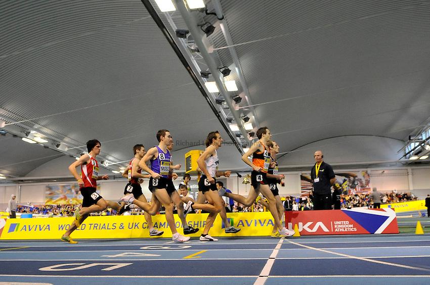 Photo: Paul Greenwood/Richard Lane Photography. Aviva World Trials & UK Championships. 14/02/2010. .General view of the Mens 1500m.