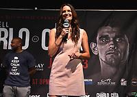 "LAS VEGAS - JUNE 22:  Heidi Androl at Fox Sports ""PBC on Fox Fight Night"" Weigh-In at Mandalay Bay Resort & Casino on June 22, 2019 in Las Vegas, Nevada. (Photo by Frank Micelotta/Fox/PictureGroup)"