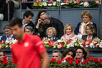 Madrid Mayor Manuela Carmena and President of the community Cristina Cifuentes during  TPA Finals Mutua Madrid Open Tennis 2016 in Madrid, May 08, 2016. (ALTERPHOTOS/BorjaB.Hojas) /NortePhoto.com