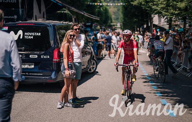 at the race start in Luchon<br /> <br /> Stage 17: Bagnères-de-Luchon > Saint-Lary-Soulan (65km)<br /> <br /> 105th Tour de France 2018<br /> ©kramon