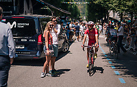 at the race start in Luchon<br /> <br /> Stage 17: Bagnères-de-Luchon > Saint-Lary-Soulan (65km)<br /> <br /> 105th Tour de France 2018<br /> ©kramon