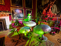 BNPS.co.uk (01202 558833)<br /> Pic: PhilYeomans/BNPS<br /> <br /> An Alice in Wonderland spectacular takes over historic Blenheim Palace in Oxfordshire this Christmas ...<br /> <br /> Britains only non-royal Palace has been transformed into a sound and light fantasy vision of the famous Lewis Carol Victorian novel, complete with a real life Alice to show the visitors around.<br /> <br /> Sir Winston Churchill's birthplace has been decked out with its own rabbit-hole corridor, hall of mirrors and pool of tears.<br /> <br /> Its famous long library is the scene of the Mad Hatter's Tea Party, while White Rabbit can be found in the sitting room.