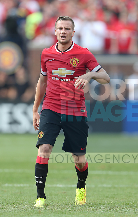 Tom Cleverley of Manchester United - International Champions Cup 2014 - Manchester United vs Real Madrid - Michigan Stadium - Ann Arbor - USA - 2nd August 2014 - Picture David Klein/Sportimage