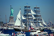 July 03, 1986, New york City - NY: Liberty Weekend was the celebration of the restoration and centenary of the Statue of Liberty.