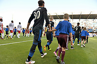 San Jose, CA - Wednesday June 13, 2018: Yeferson Quintana prior to a Major League Soccer (MLS) match between the San Jose Earthquakes and the New England Revolution at Avaya Stadium.