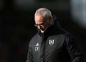 9th February 2019, Craven Cottage, London, England; EPL Premier League football, Fulham versus Manchester United; A disappointed Fulham Manager Claudio Ranieri after his side lose 3-0 at home