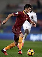 Calcio, Serie A: Roma vs Milan. Roma, stadio Olimpico, 12 dicembre 2016.<br /> Roma&rsquo;s Diego Perotti in action during the Italian Serie A football match between Roma and AC Milan at Rome's Olympic stadium, 12 December 2016.<br /> UPDATE IMAGES PRESS/Isabella Bonotto