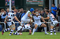 Zach Mercer of Bath Rugby takes on the Yorkshire Carnegie defence. Pre-season friendly match, between Yorkshire Carnegie and Bath Rugby on August 13, 2016 at Ilkley RFC in Ilkley, England. Photo by: Ian Smith / Onside Images