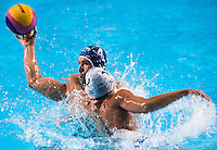 FIGLIOLI Pietro ITA and MYLONAKIS Emmanouil GRE<br /> GREECE vs ITALY<br /> GRE vs ITA<br /> Waterpolo - Men's 3rd-4th place <br /> Day 16 08/08/2015<br /> XVI FINA World Championships Aquatics Swimming<br /> Kazan Tatarstan RUS July 24 - Aug 9 2015 <br /> Photo Giorgio Perottino/Deepbluemedia/Insidefoto