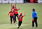 Marina Lamplough of Hong Kong and teammates react during their ICC 2016 Women's World Cup Asia Qualifier match between Hong Kong and China on 14 October 2016 at Hong Kong Cricket Club in Hong Kong, China. Photo by Marcio Machado / Power Sport Images