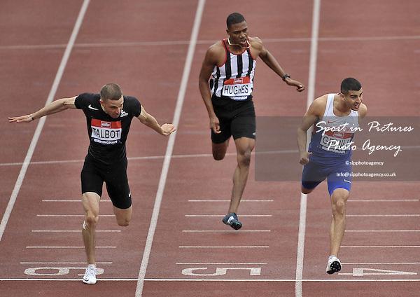 Adam Gemili (Blackheath and Bromley, right) beats  Danny Talbot (Birchfield Harriers, left) to win the mens 200m. British Athletics Championships. Alexander Stadium. Birmingham. UK. 26/06/2016. ~ MANDATORY CREDIT Garry Bowden/SIPPA - NO UNAUTHORISED USE - +447837 394578