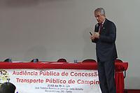 CAMPINAS, SP, 21.03.2018: TRANSPORTE-SP - Carlos José Barreiro durante audiência pública da licitação do transporte no salão vermelho na prefeitura de Campinas nesta quarta-feira  (21). (Foto: Luciano Claudino/Codigo19)