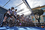 Team Sunweb on the start ramp of the 1st stage of the race of the two seas, 52nd Tirreno-Adriatico by NamedSport a 22.7km Team Time Trial around Lido di Camaiore, Italy. 8th March 2017.<br /> Picture: La Presse/Gian Mattia D'Alberto | Cyclefile<br /> <br /> <br /> All photos usage must carry mandatory copyright credit (&copy; Cyclefile | La Presse)
