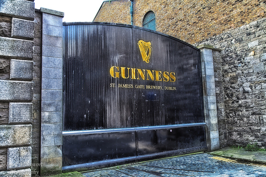 A view of the Guinness Brewery St. James's Gate in Dublin.