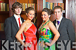 Pictured at the Castleisland Community College Debs at the Abbeygate Hotel, Tralee on Friday, from left: Declan Cahill, Sarah O'Connor, Gráinne Bergin and Shane O'Connor.