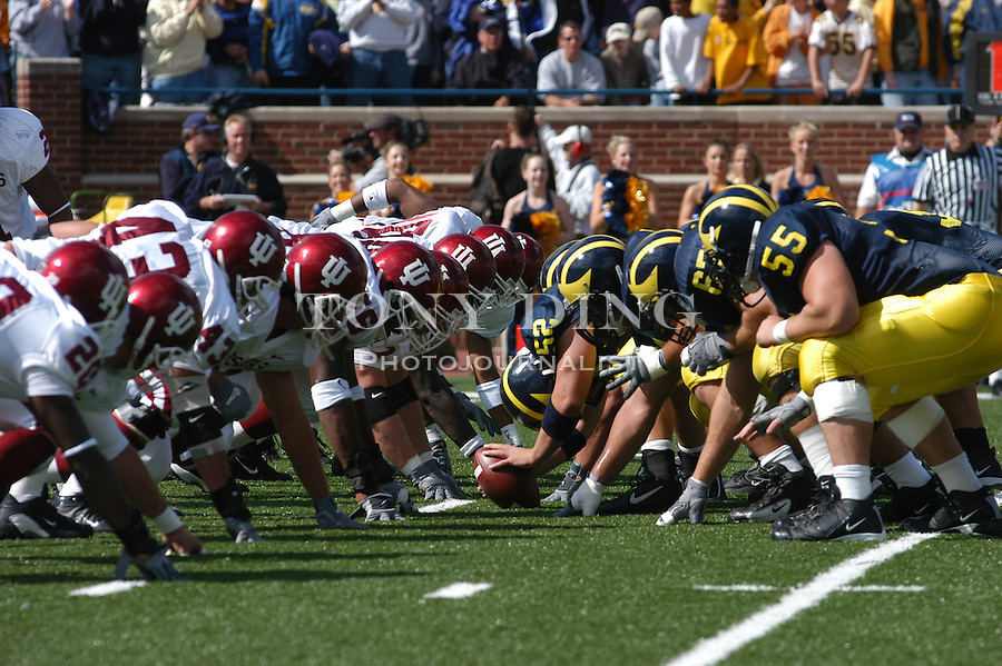 The grid iron during the Wolverine's 31-17 win over Indiana on Friday, September 26, 2003 at Michigan Stadium in Ann Arbor, Mich. (TONY DING/Daily)