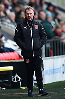 Fleetwood Town manager John Sheridan looks on<br /> <br /> Photographer Richard Martin-Roberts/CameraSport<br /> <br /> The EFL Sky Bet League One - Fleetwood Town v Plymouth Argyle - Saturday 10th March 2018 - Highbury Stadium - Fleetwood<br /> <br /> World Copyright &not;&copy; 2018 CameraSport. All rights reserved. 43 Linden Ave. Countesthorpe. Leicester. England. LE8 5PG - Tel: +44 (0) 116 277 4147 - admin@camerasport.com - www.camerasport.com