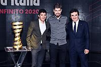 Richard Carapaz-Peter Sagan-Urbano Cairo<br /> Milano 24-10-2019 <br /> Presentazione 103mo Giro d'Italia 2020 <br /> Photo Daniele Buffa / Insidefoto