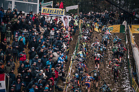 getting out of the infamous &quot;Pit&quot; all at once...<br /> <br /> Men's race<br /> Superprestige Zonhoven (BEL) 2018