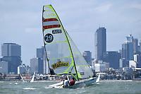 49ers / Benjamin BILDSTEIN &amp; David HUSSL (AUT)<br /> ISAF Sailing World Cup Final - Melbourne<br /> St Kilda sailing precinct, Victoria<br /> Port Phillip Bay Friday 9 Dec 2016<br /> &copy; Sport the library / Jeff Crow