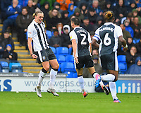 Tom Eaves of Gillingham left celebrates after scoring the first goal during Portsmouth vs Gillingham, Sky Bet EFL League 1 Football at Fratton Park on 6th October 2018