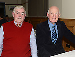 Patsy Coleman and Aidan McGuinness pictured at St mary's GFC Ardee awards night. Photo:Colin Bell/pressphotos.ie