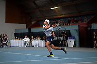 Men's singles final between Finn Tearney and Ajeet Rai (pictured). 2019 Wellington Tennis Open finals at Renouf Centre in Wellington, New Zealand on Sunday, 22 December 2019. Photo: Dave Lintott / lintottphoto.co.nz