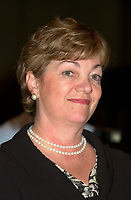 June 28, 2002, Montreal, Quebec, CANADA<br /> <br /> Sheila Copps., Canadian Heritage minister, speak on Globalizatin and preservation of cultural identity, at<br /> the closing lunch of the 8 th Conference of Montreal, June 26, 2002 in Montreal, CANADA
