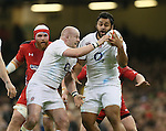 Dan Cole of England and Billy Vunipola of England - RBS 6Nations 2015 - Wales  vs England - Millennium Stadium - Cardiff - Wales - 6th February 2015 - Picture Simon Bellis/Sportimage