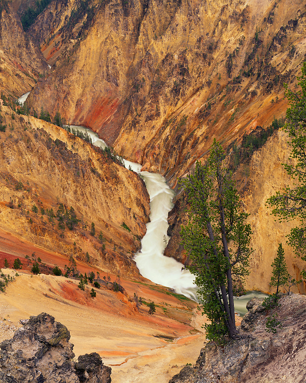 Yellowstone River and the Grand Canyon of the Yellowstone; Yellowstone National Park, WY