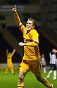 MOTHERWELL'S NICKY LAW CELEBRATES AFTER HE SCORES MOTHERWELL'S SECOND GOAL