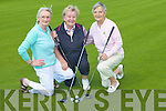 CHARITY: Betty McAuliffe, Sheila Hannon and Milly Browne (Castleisland)playing in the 3 ball charity golf for Cystic Fibrosis in Barrow on Friday..