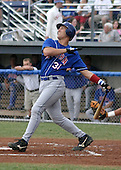 July 26, 2003:  NY-Penn League Triple Crown Winner Vito Chiaravaloti (31) of the Auburn Doubledays, Class-A affiliate of the Toronto Blue Jays, during a game at Dwyer Stadium in Batavia, NY.  Photo by:  Mike Janes/Four Seam Images