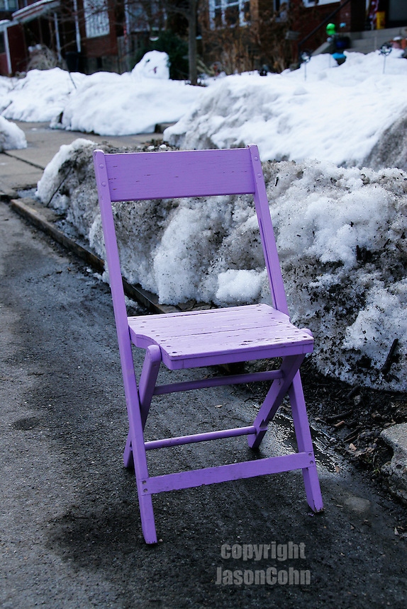 Parking chairs in Wilkinsburg and Pittsburgh.
