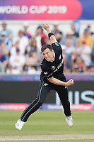 Matt Henry (New Zealand) in action during England vs New Zealand, ICC World Cup Cricket at The Riverside Ground on 3rd July 2019