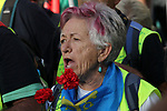 A pensioner is seen at the march of pensioners at Puerta del Sol on October 15, 2019 in Madrid, Spain.(ALTERPHOTOS/ItahisaHernandez)
