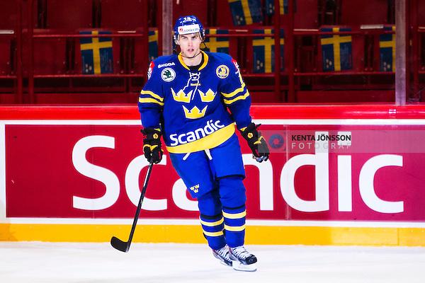 Stockholm 2014-05-03 Ishockey Oddset Hockey Games  Sverige - Finland :  <br /> Sveriges Joakim Lindstr&ouml;m <br /> (Foto: Kenta J&ouml;nsson) Nyckelord:  Oddset Hockey Games Sverige Swe Tre Kronor Finland Fin Globen Ericsson Globe Arena portr&auml;tt portrait