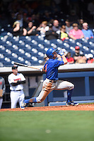 ***Temporary Unedited Reference File***Iowa Cubs right fielder John Andreoli (3) during a game against the Nashville Sounds on May 4, 2016 at First Tennessee Park in Nashville, Tennessee.  Iowa defeated Nashville 8-4.  (Mike Janes/Four Seam Images)
