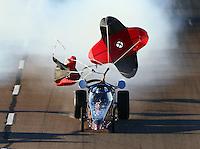 Feb 26, 2016; Chandler, AZ, USA; NHRA jet dragster during qualifying for the Carquest Nationals at Wild Horse Pass Motorsports Park. Mandatory Credit: Mark J. Rebilas-