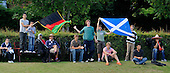 Scotland V Afghanistan, One Day International, at New Cambusdoon, Ayr - the good afternoon weather in Ayr brought out a few fans to cheer on each country - Picture by Donald MacLeod 17.08.10 - mobile 07702 319 738 - clanmacleod@btinternet.com