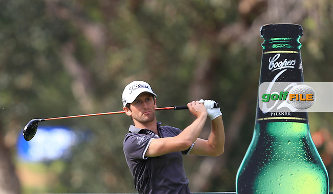 Gregory Bourdy (FRA) on the 11th tee during Round 3 of the ISPS HANDA Perth International at the Lake Karrinyup Country Club on Saturday 25th October 2014.<br /> Picture:  Thos Caffrey / www.golffile.ie